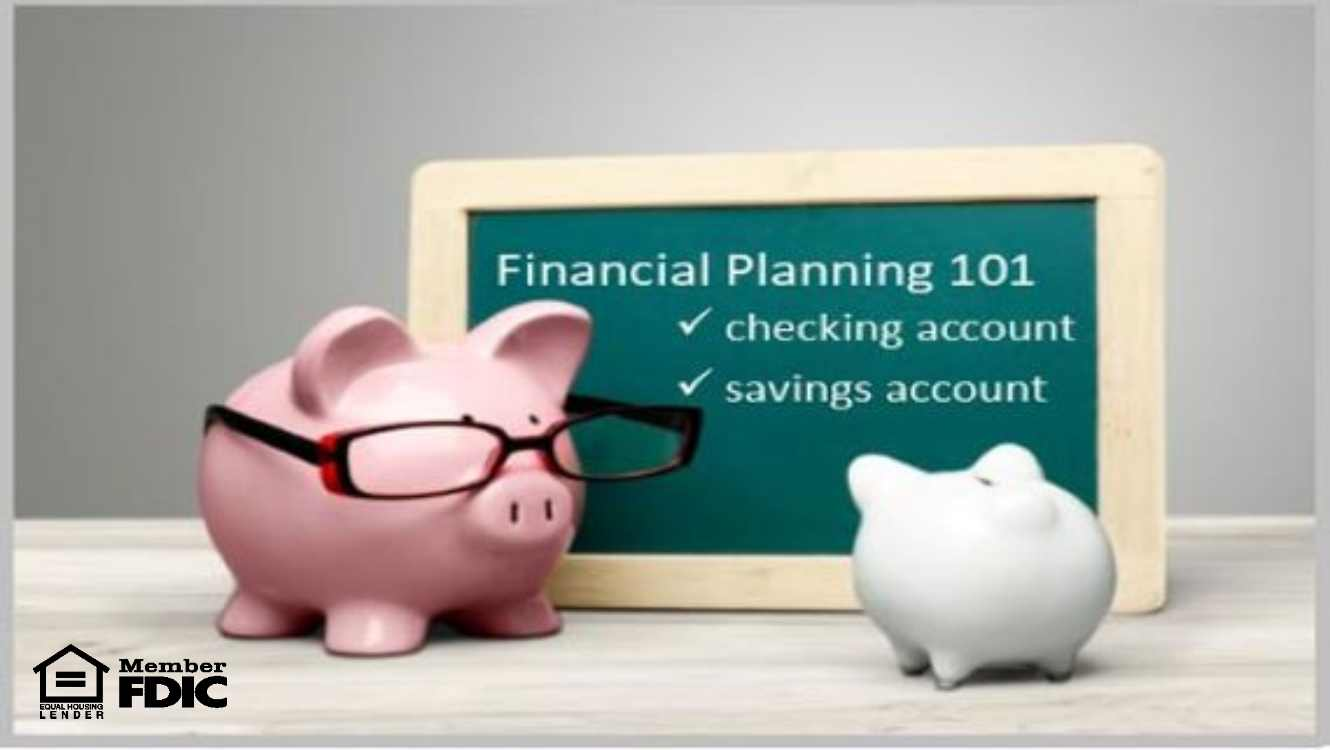 Piggy Bank teaching financial planning 101 to another piggy bank